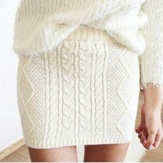 knitted mini-skirt