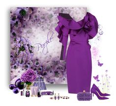 """""""Power of Purple...The Fashion Palette group"""" by deborah-518 ❤ liked on Polyvore featuring Jimmy Choo, Mario Buccellati, Alexander McQueen, Saint-Louis Crystal, LSA International, Thierry Mugler, Butter London, Maybelline and Wayne Smith Jewels"""
