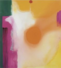 Bullseye 1989 Acrylic on canvas x 43 in. x cm) By Helen Frankenthaler (American, Helen Frankenthaler, Willem De Kooning, Jackson Pollock, Abstract Painters, Abstract Art, Colour Field, Art Pages, American Artists, Abstract Expressionism