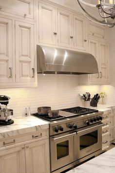Marble counters and backsplash