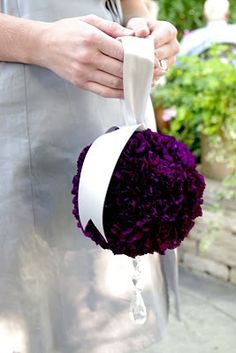 Gorgeous purple pomander - a great bridal bouquet alternative or for the bridesmaids perhaps?