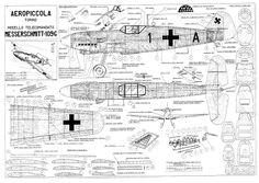 Battu from Aeropiccola 1957 - plan thumbnail Me 109, Sainte Sophie, Rc Plane Plans, Balsa Wood Models, Rc Model Airplanes, Trains, Plane Design, Aircraft Painting, Air Festival