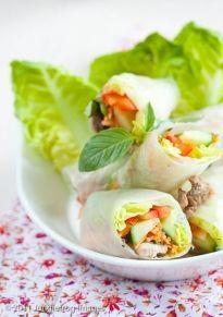 Vietnamese springrolls - superlekker met deze homemade pindasaus