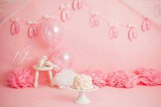 Ballet Cakes, Ballerina Cakes, Ballerina Slippers, Ballet Dancers, Dancer Cake, Smash Cake Girl, Cake Smash Photography, Cake Smash Photos, Playroom Decor