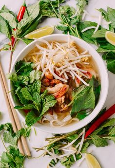 20-Minute Chicken Pho recipe by thewoksoflife.com