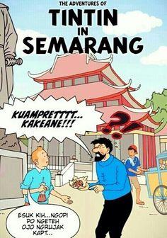 Tintin in Semarang, Indonesia