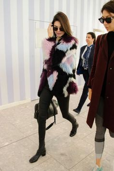 Kendall Jenner wearing Givenchy Lucrezia Bag, Elizabeth and James Bee Jacket and Sandro Amele Boots
