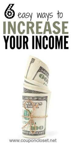 How to Increase Your Income -here are 6 easy ways to increase your income so you can save for Christmas, create an emergency fund, or pay off debt.