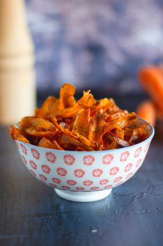 ropogós répachips - sugarfree dots Paleo, Sugar Free, Carrots, Chips, Food And Drink, Sweets, Snacks, Vegetables, Tableware