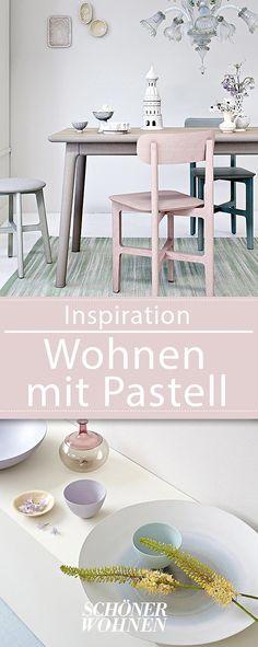 Wohnen Mit Farbe   Pastell Als Wandfarbe Mit Farbigen Möbeln