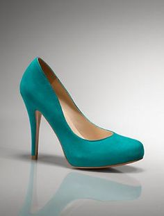 My two favorite things...shoes and my color! Match this with a skinny vanilla latte and it's heaven @April Liewer