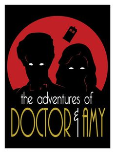 Adventures of Doctor & Amy 12x16 Poster