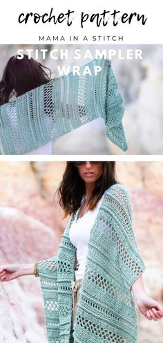 # chunky crochet shawl Sampler Crochet Wrap Cover-Up Free Pattern Crochet Shawl Free, Crochet Wrap Pattern, Crochet Shawls And Wraps, Basic Crochet Stitches, Crochet Basics, Crochet Scarves, Crochet Clothes, Crochet Patterns For Scarves, Cotton Crochet Patterns