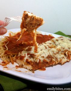 slow cooker chicken parm- just tried this last night and it is Phenomenal. Wanted to repost for everyone. It's not fried so it's much healthier and the meat is so tender, perfect! 1st pinterest recipe a success!