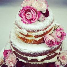 Love everything about this naked cake