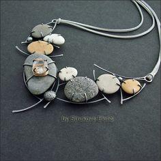 Strukova Elena - авторские украшения - Ожерелье из коллекции Камешки