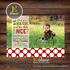 Printable+Funny+Photo+Christmas+Card++by+EThreeDesignStudio,+$15.00