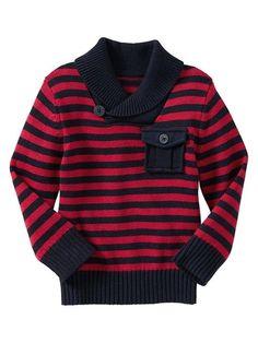 Striped Shawl Sweater - blue galaxy from Gap on shop.CatalogSpree.com, your personal digital mall.