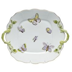 Herend Royal Garden Square Cake Plate