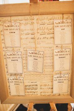 musical table plan