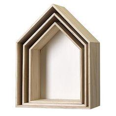 Husformet kasse til ophæng. HVID. Vælg str.