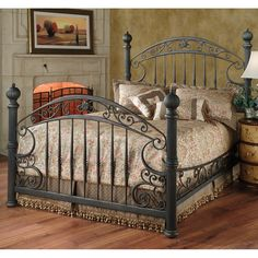 chesapeake iron bed by hillsdale furniture wrought iron beds 429 - Wrought Iron Bed Frames