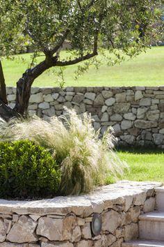 Aix-en-Provence, Creación de un jardín privado, arquitecto paisajista, diseñador rural … Hillside Garden, Garden Pool, Provence Garden, Meditation Garden, Wall Exterior, Private Garden, Garden Inspiration, Land Scape, Backyard Landscaping