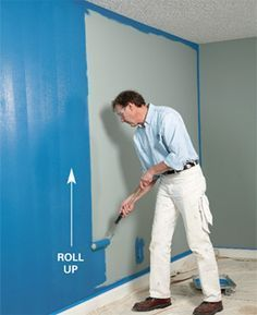 How to quickly paint a room - great tips from a pro painter. I'll definitely be glad I pinned this! Home Renovation, Home Remodeling, Room Paint, How To Paint Room, Diy Painting, Painting Room Tips, Painting A Bedroom, Diy Interior Painting Tips, Painting Ceilings Tips