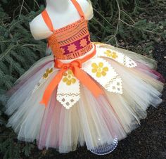Moana Inspired Tutu Dress Moana Dress Moana by TutuOclockSomewhere