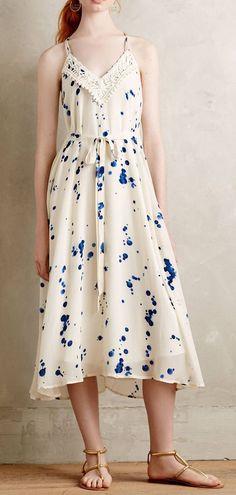 Inkdrop Midi Dress