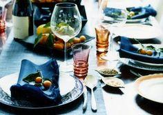 Mandarin oranges on the Hanukkah table.