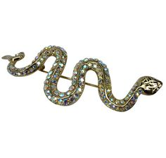 Carmen MG Collection Snake Brooch - GOLD PLATE