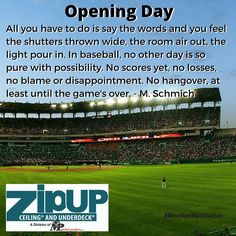 OpeningDay Baseball Monday Quotes Schmich Monday Quotes, Disappointment, Monday Motivation, How Are You Feeling, Baseball, Feelings, Sayings, Words, Lyrics