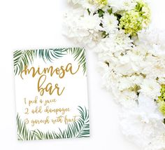 Mimosa Bar Tropical Sign Printable Palm Tree by PrettyCollected