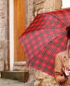Red Tartan umbrella from Anthropology.