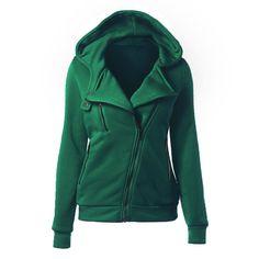a204991f44c 2018 Casual Winter Women Basic Jackets Cardigan Cotton Hoodies Female Coat  Black Outerwear Hoodies Sweatshirts Plus Size 50