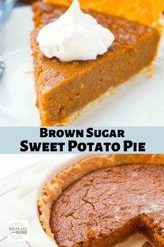 Rich, flavorful and dense! This from scratch sweet potato pie recipe is made with yams, heavy cream, dark brown sugar, cloves, cinnamon, nutmeg and ginger. Easy-to-follow directions and a homemade pie crust recipe is included. This is the perfect Thanksgiving or Christmas dessert. #sweetpotatopie #dessert #thanksgiving Pumpkin Pie Cheesecake, Vegan Pumpkin Pie, Sugar Pumpkin, Pumpkin Pie Recipes, Tart Recipes, Baking Recipes, Pumpkin Pies, Healthy Pumpkin, Homemade Sweet Potato Pie
