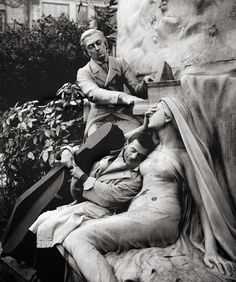 "greeneyes55: "" Maurice Baquet, Chopin and his Muse ca.1950 Photo: Robert Doisneau """