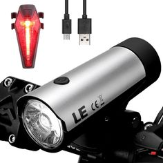 LED Cycling Light Set Bike 2 Count Front/Rear Water Resistant USB Rechargeable #LightingEVER