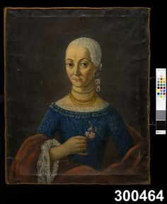 Unknown lady painted by unknown artist, circa 1750-1800. Nordiska Museet, Stockholm, Sweden. http://media31.dimu.no/media/image/S-NM/NM.0300464/147077?width=600=380