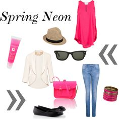 spring neon, created by anitsirhc-christina on Polyvore