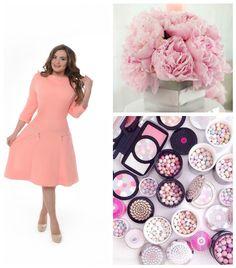 #Пионы #румяна #красота #розовый #персик #peach #pink #платье #Альпама