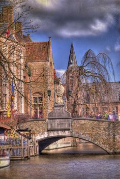 The Bridge takes me to Downtown Bruges Travel Sights, Places To Travel, Places To Visit, Brugges Belgium, Belgium Bruges, Luxembourg, Places Around The World, Around The Worlds, Jan Van Eyck