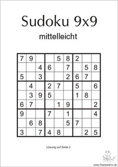 Sudoku 9x9 mittelleicht