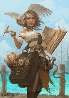 Fantasy Landscape Art Magic Artists 59 New Ideas Art And Illustration, Dnd Characters, Fantasy Characters, Character Portraits, Character Art, Fantasy Character Design, Pirate Art, A4 Poster, Dnd Art
