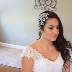 Swarovski Wedding headpiece Bridal hair accessory by treasures570