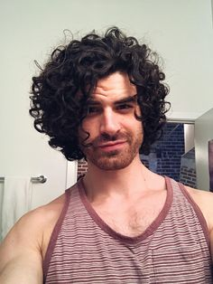 Delightful Long Male Curly Hair
