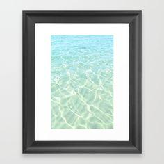 All Clear Framed art print by ARTbyJWP from Society6 - $28 #artwalldeco #artprint #walldeco #beach #seascape #artbyjwp