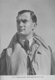 Portrait of Rene Mouchotte, a Free French pilot who flew with the RAF after escaping from France in 1940.