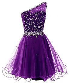 Vantop Dress Women's One Shoulder Short Beading Prom Dress Homecoming Gown Prom Dress   Amazon.com